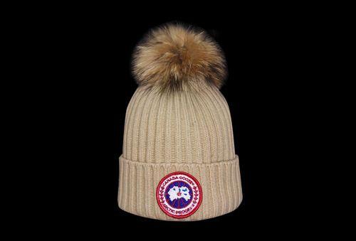 canada goose fur bobble hat