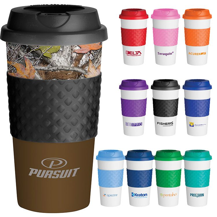 Printed Clic Reusable Coffee Cup