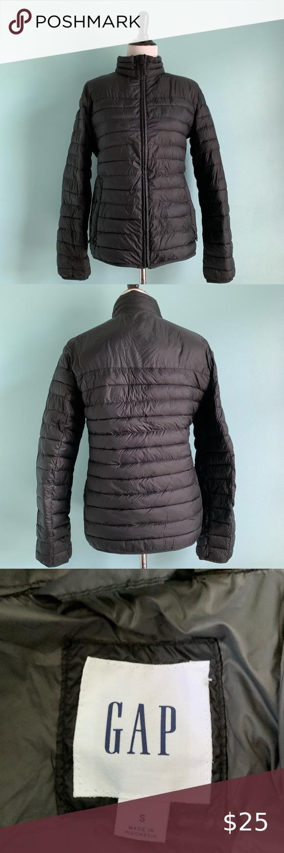 Men S Gap Black Puffer Jacket Small Black Puffer Jacket Black Puffer Jackets [ 1740 x 580 Pixel ]