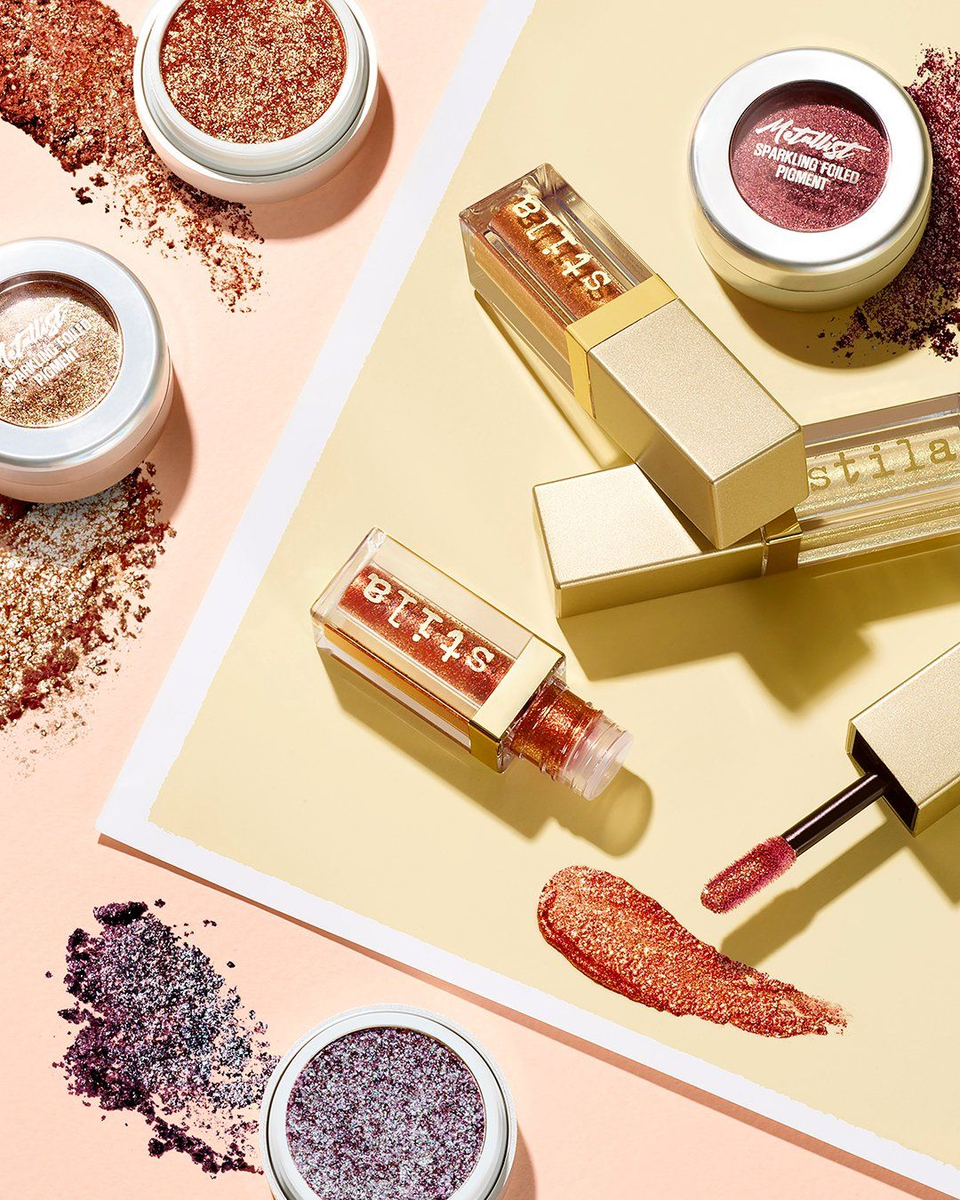 Stila All Fired Up : stila, fired, Apply, Stila, Cosmetics', Fired, High-impact,, Glittery, Looks., Starry-eyed, Sparkle, To…, Cosmetics,, Makeup, Collection,
