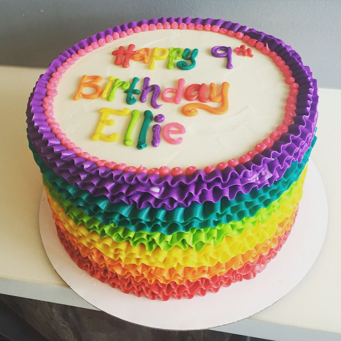 Pleasant Signature Rainbow Ruffle Cake By Hayleycakes And Cookies Cake Funny Birthday Cards Online Barepcheapnameinfo