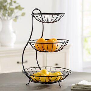 French Market Tiered Stand Joss Main Fruit Holder Fruit Bowl Tiered Fruit Basket