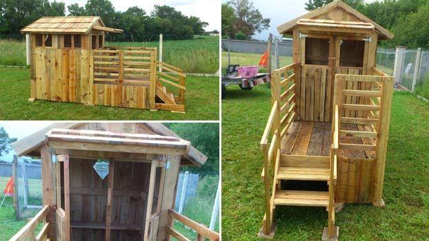 4 idee per costruire una casa in pallet di legno  Case in ...
