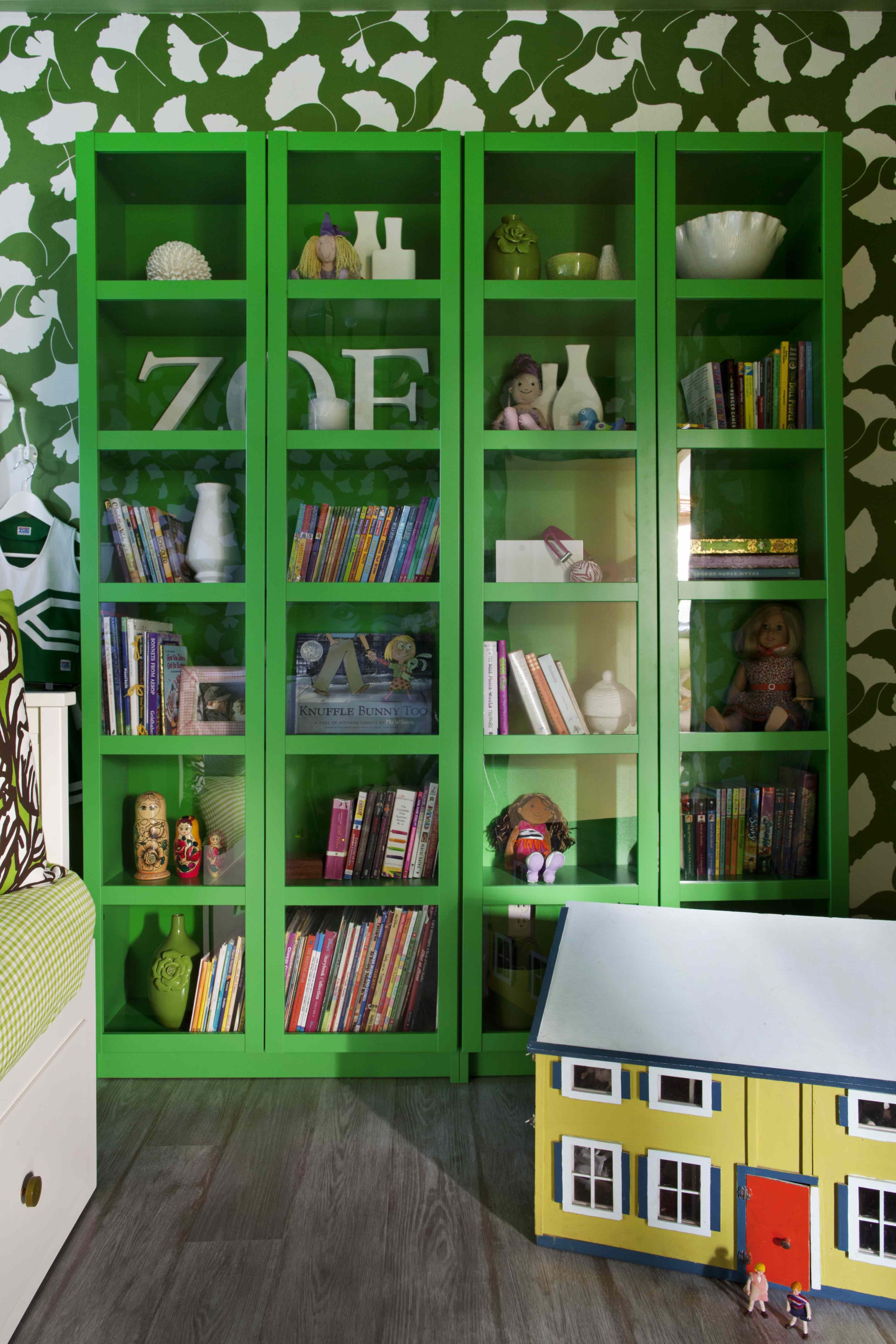 When You Come Across Kelly Green Bookshelves At IKEA That Are 5999