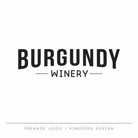 Brewery Logo Winery Logo Craft Beer Logo Premade Branding