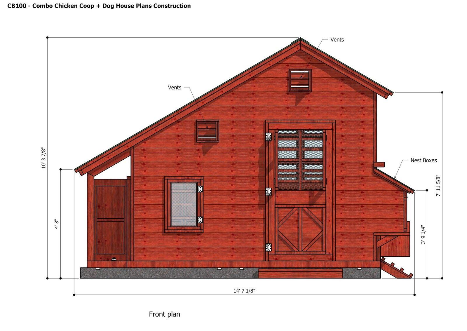 home garden plans: CB100 - Combo Plans - Chicken Coop ...