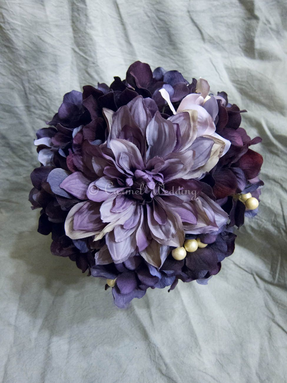 Custom order for sara dark purple bridal bouquet package bridal