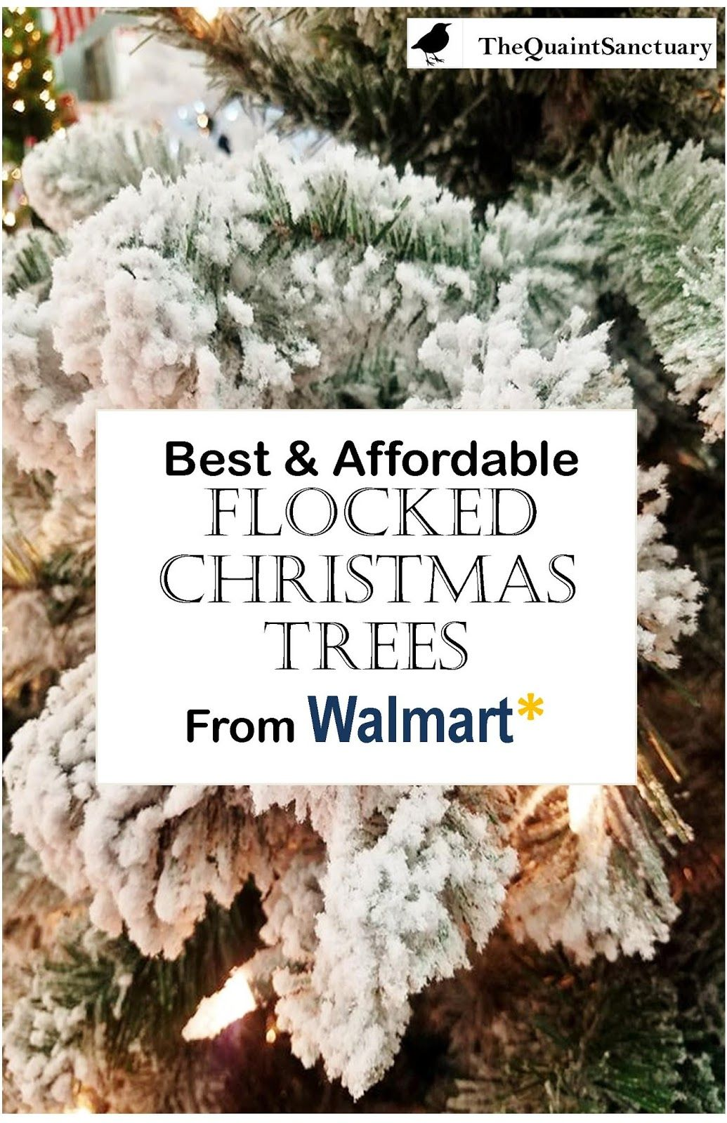 Best Affordable Flocked Christmas Trees From Walmart Walmart Christmas Trees Flocked Christmas Trees Walmart Flocked Christmas Trees