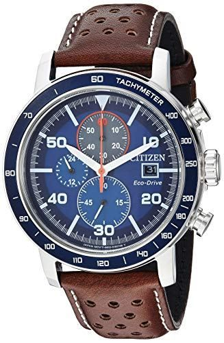 1ca3cff01de08e Citizen Men's 'Eco-Drive' Quartz Stainless Steel and Leather Casual Watch  (CA0648-09L)