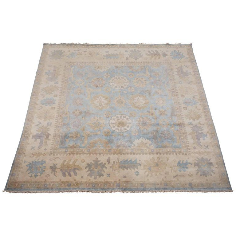 11x11 Light Blue Square Oushak Area Rug From A Unique Collection Of Antique And Modern Indian Rugs At Https Www 1stdibs Com Indian Rugs Rugs On Carpet Rugs