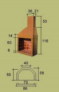 Medidas chimeneas pinterest estufas horno parrilla y chimeneas - Medidas chimenea ...