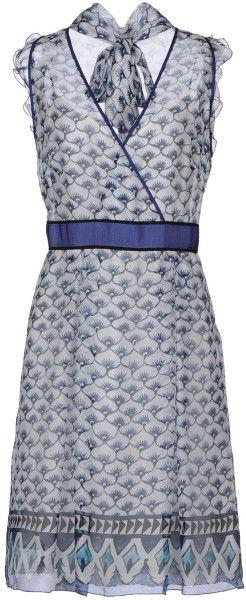 Philosophy Di Alberta Ferretti Blue Kneelength Dress