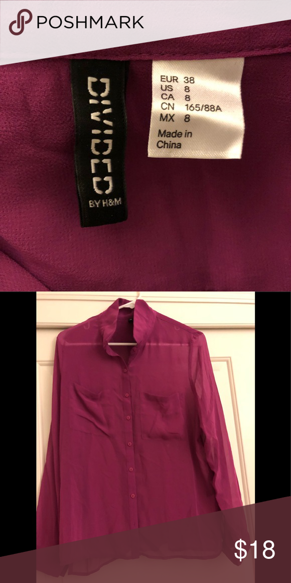 9b86a1de New blouse with vibrant color size 8 New without tag silk from H&M H&M Tops  Blouses