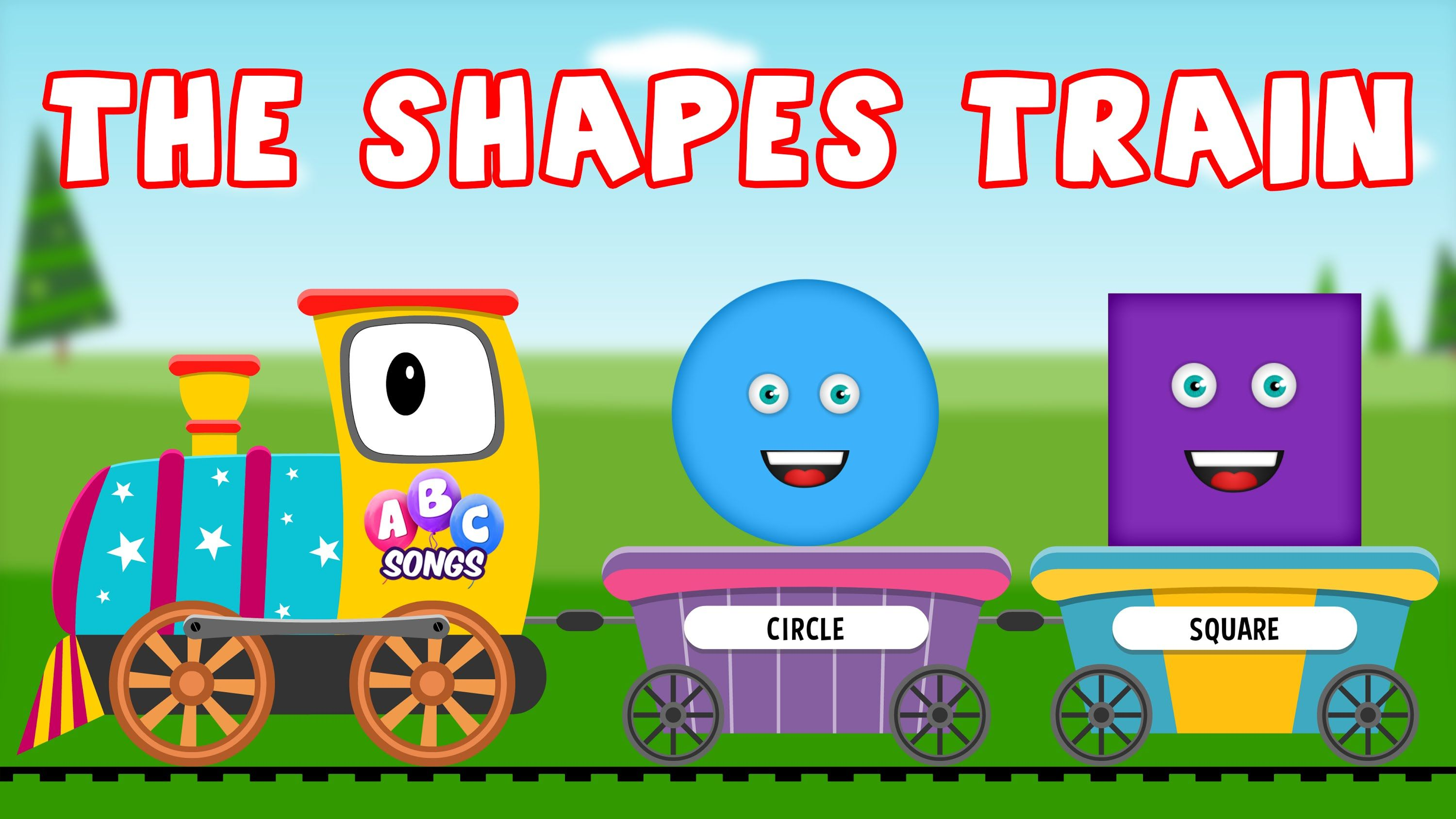 Learn Shapes with the Shapes Train | Shapes Song | 2D Shapes | Pre ...