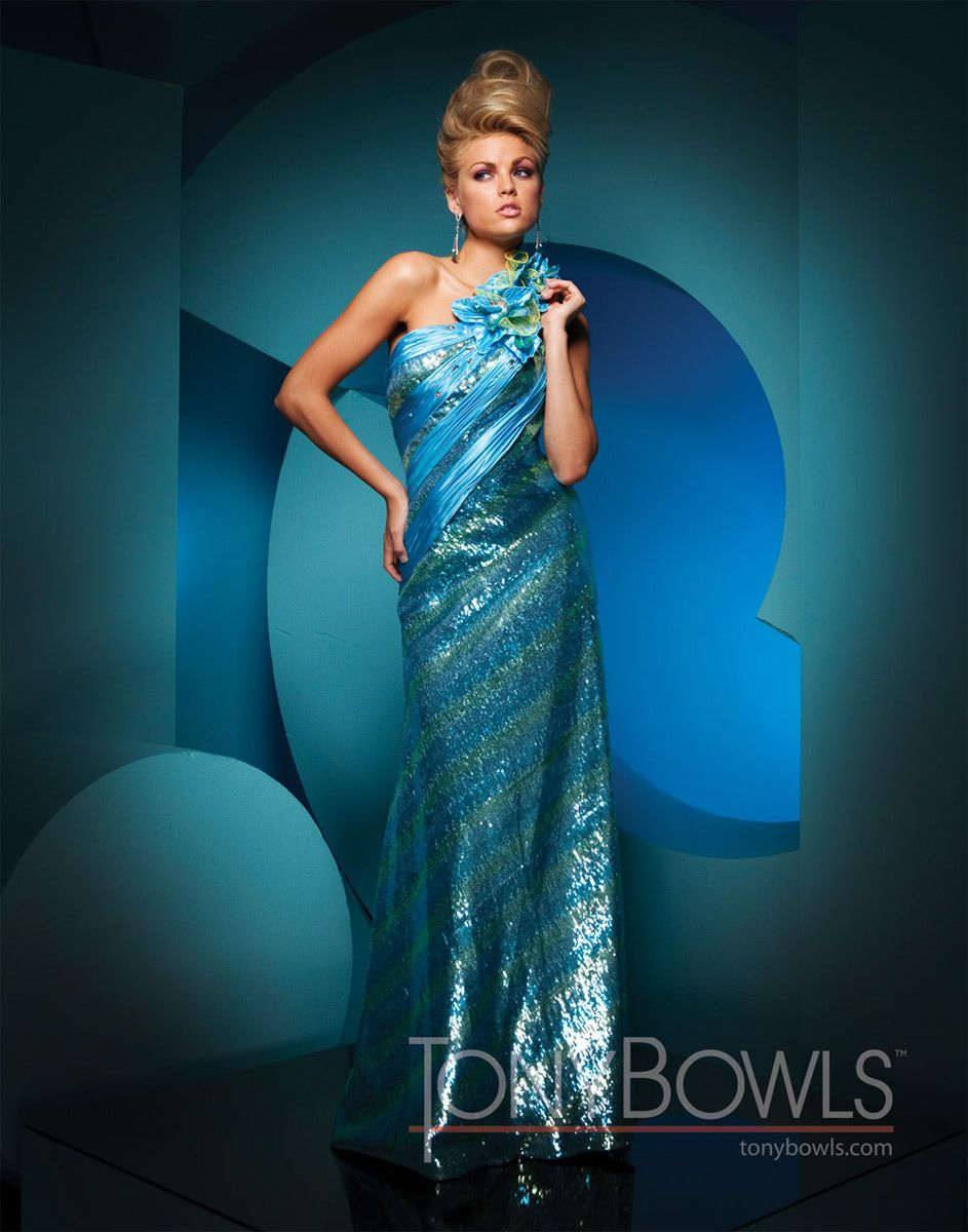 Awesome Great Tony Bowls Paris Prom Evening Dress - #111749 Blue ...