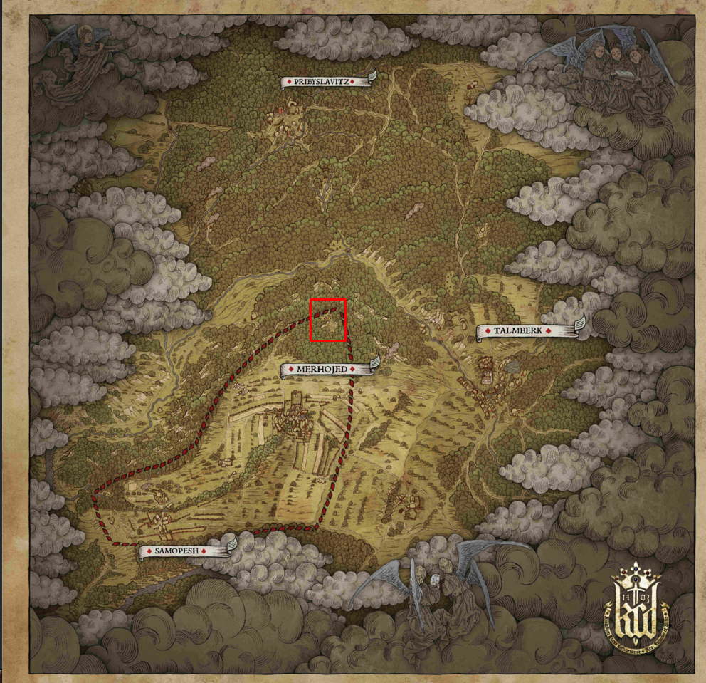 Kingdom Come Deliverance Map
