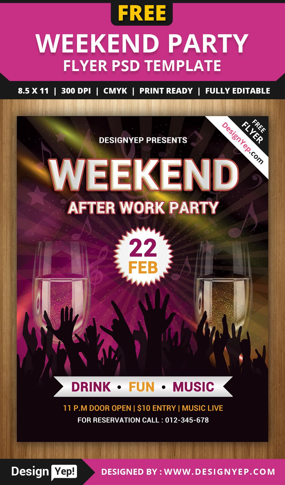 Free-Weekend-Party-Flyer-PSD-Template-7788-DesignYep | Free Flyers ...