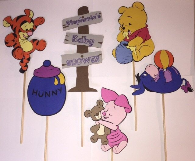 Baby winnie the pooh centerpiece cut outs with bamboo sticks baby winnie the pooh centerpiece cut outs with bamboo sticks attached by jcbellecreations on voltagebd Gallery