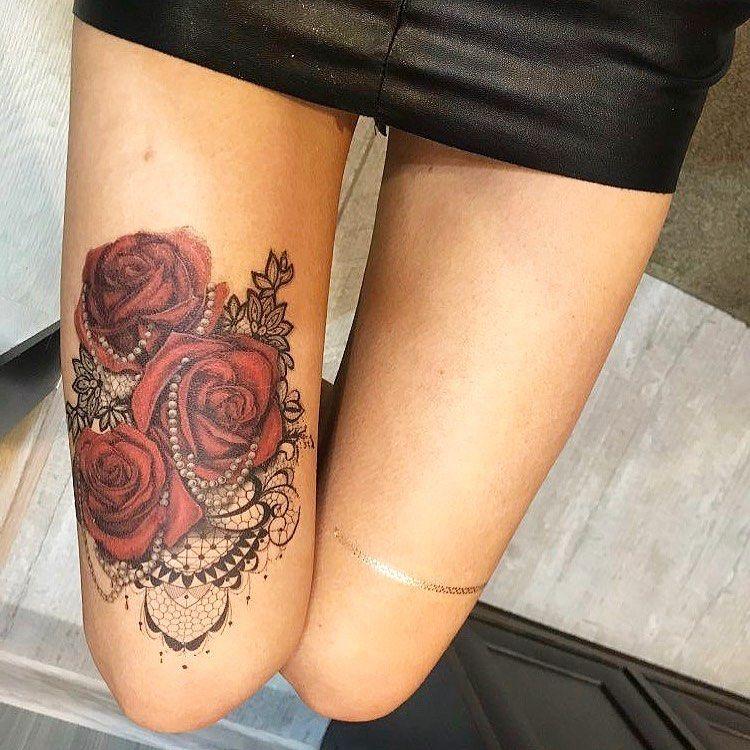 Magnifique tatouage roses et papille à seulement 11€50 💥💋 très glamour pour commander lien dans la b...