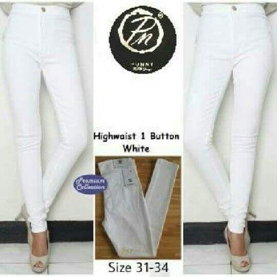 Celana Jeans Hw Pn Button Material Soft Jeans Harga 145 165