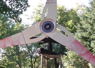 How to build a Simple Homemade Wind Generator from Old Ceiling Fan ,Microwave Oven Parts ,Old TV Antenna and other free junk