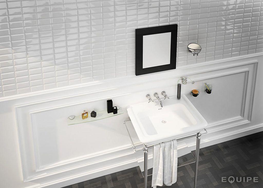 Carrelage Metro Blanc Mat Glamorous Bathroom Beveled Subway Tile