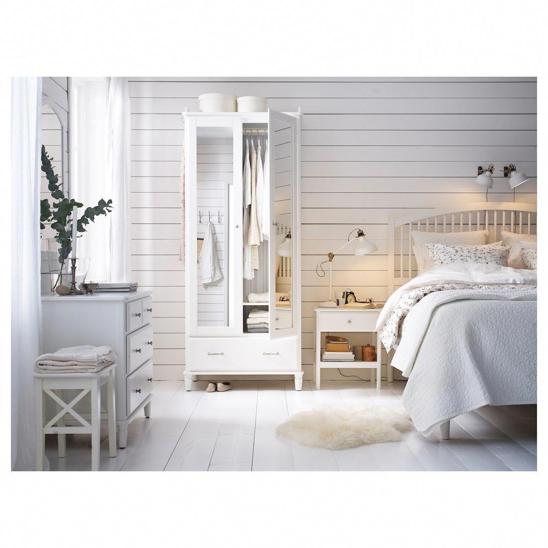 TYSSEDAL Bed frame white, Luröy Queen White bed frame