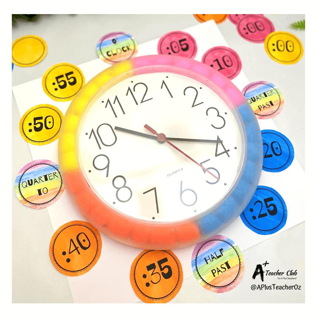 Fun Diy Classroom Clock Kmart Hack