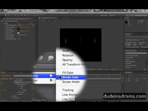 Adobe after effects cs4 tutorial: how to make an amazing.