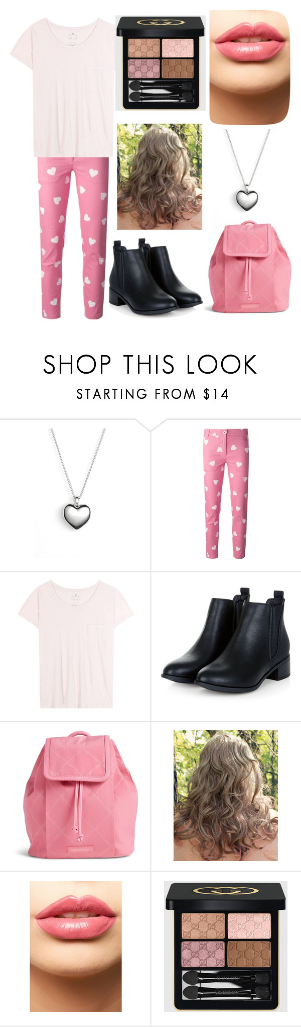 """OOTD February 14"" by chooseyourstyle321 on Polyvore featuring Pandora, Moschino, Velvet, Vera Bradley, LASplash, Gucci, women's clothing, women, female and woman"