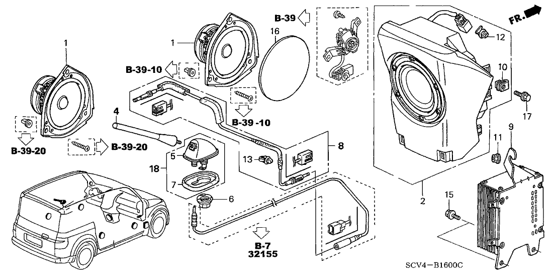Speedway Motor: Honda Element Parts Diagram