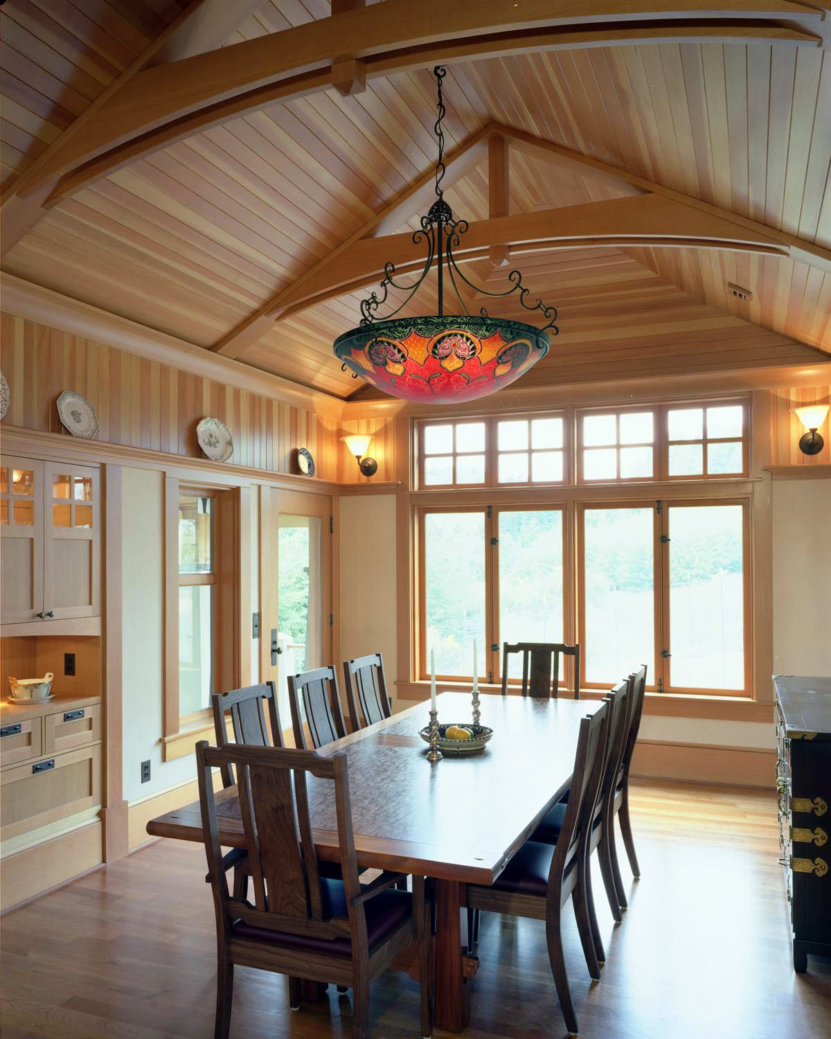 Wooden arches in dining room craftsman also wood ceiling ideas rh pinterest