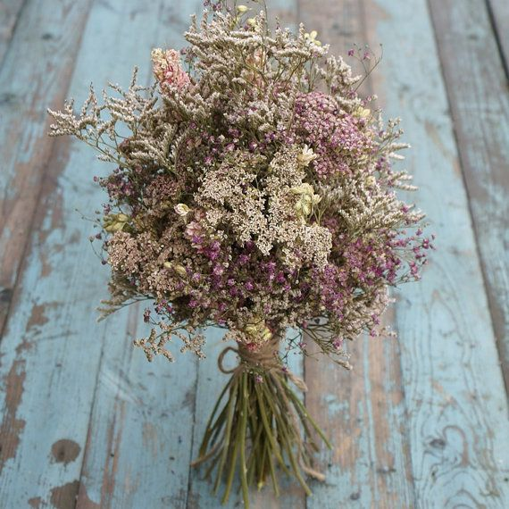Summer Haze Dried Flower Bouquet by EnglishFlowerFarmer on Etsy #flowerbouquetwedding