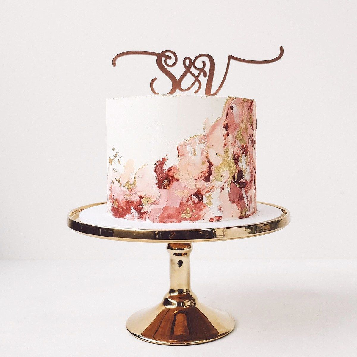 These One-Tier Wedding Cakes Are Legit Works of Art