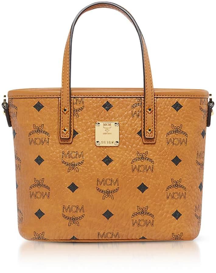 66f365ea80aa MCM Anya Cognac Top Zip Mini Tote Bag