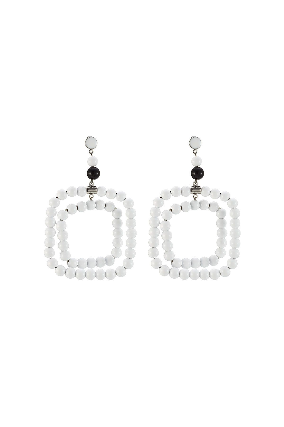 pin earrings picture beaded in of white drops pearl fringe with