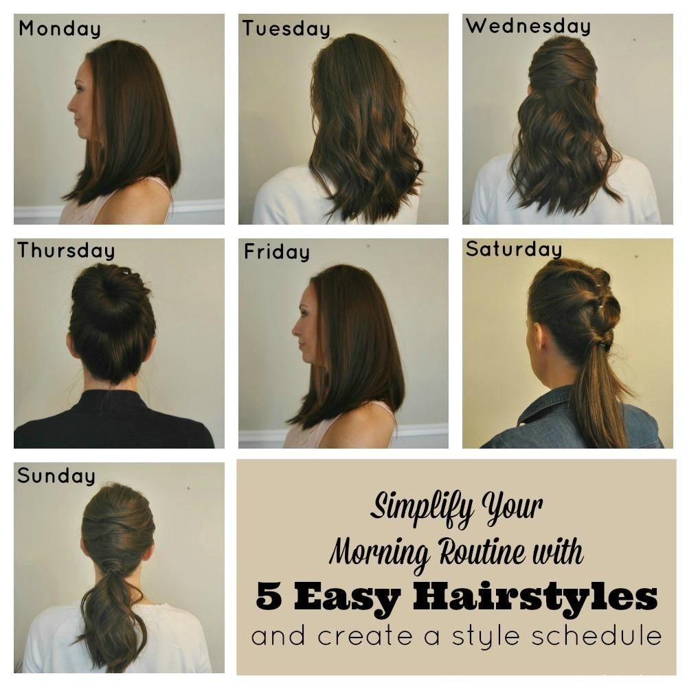 Simplify Your Morning Routine With 5 Easy Hairstyles By Creating A Style Schedule Simple Made Pretty Easy Hairstyles Hair Styles Easy Morning Hairstyles