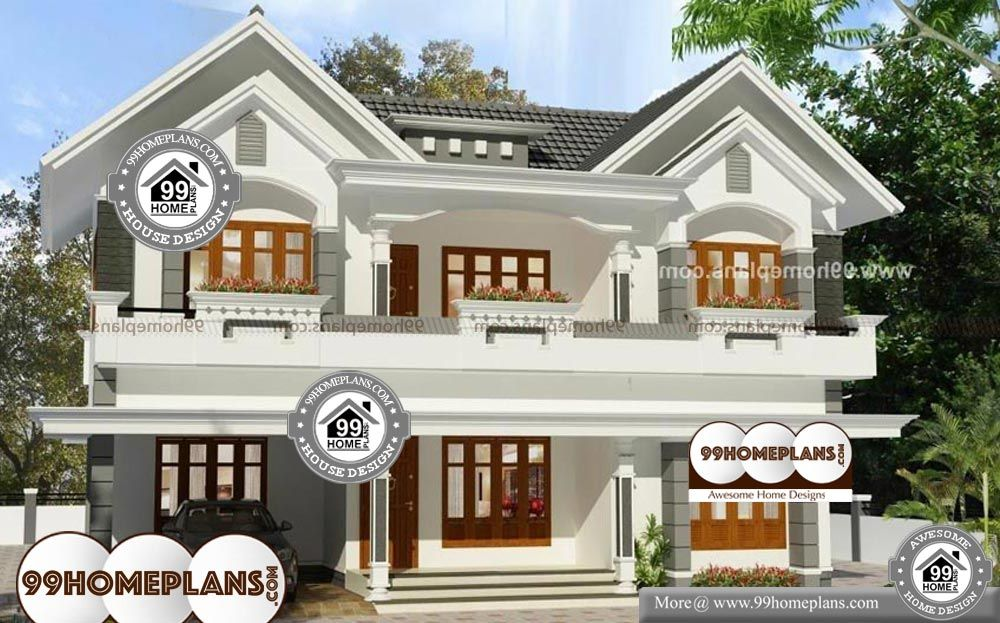 Kerala Style House Plans With Cost 2 Story 2585 Sq Ft Home Small House Elevation Design Model House Plan Kerala House Design