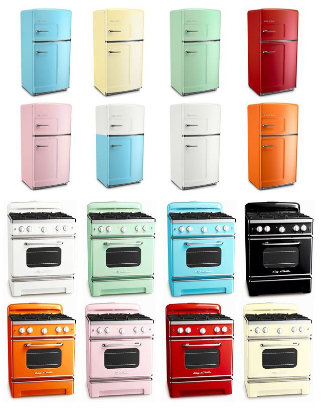 Retro Fridges And Stoves Orange Or Red Please Lol Dream Kitchens Design Vintage Kitchen Appliances Retro Kitchen