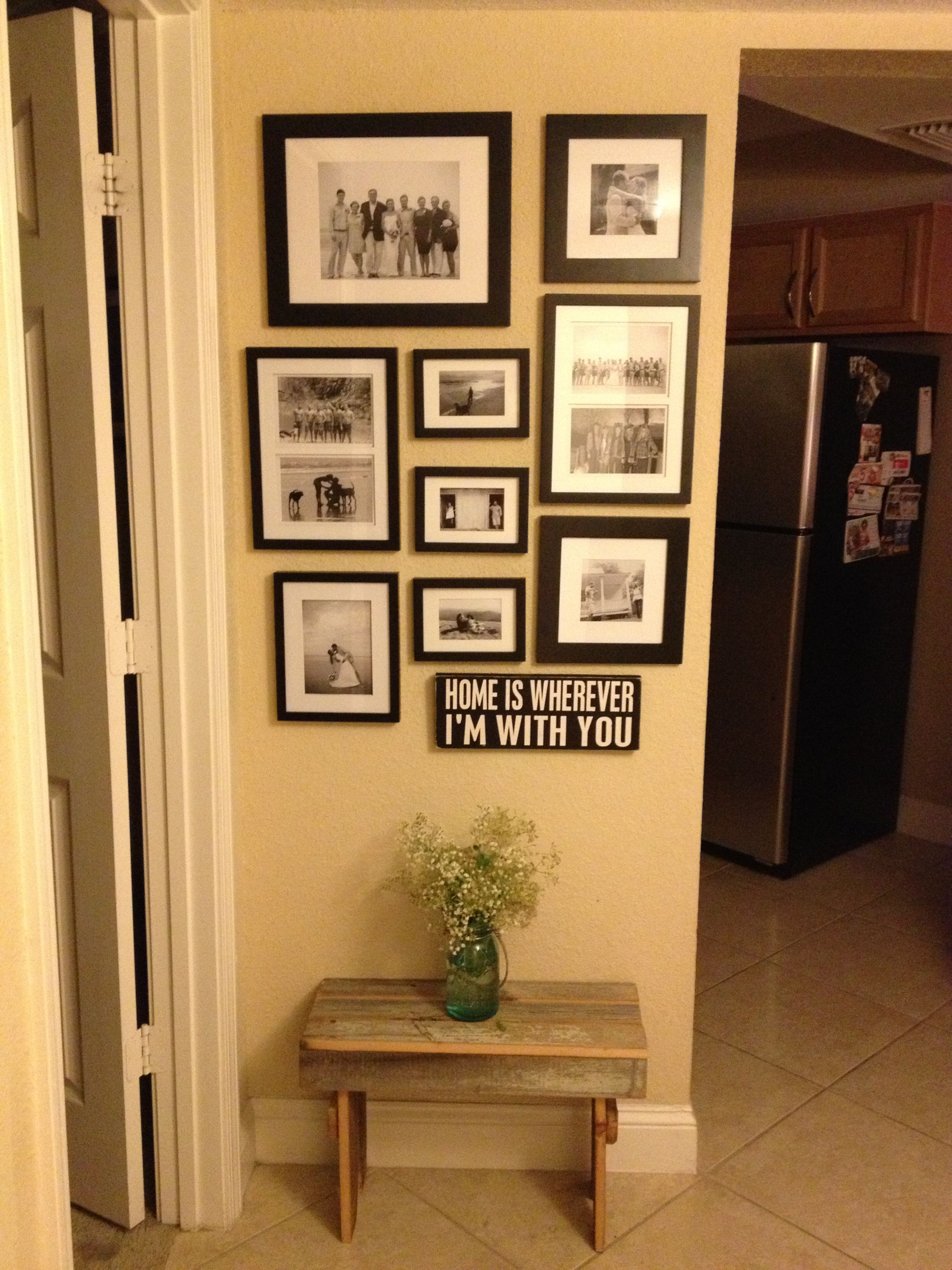 Gallery Wall At Entry Way Frames By Canopy From Walmart
