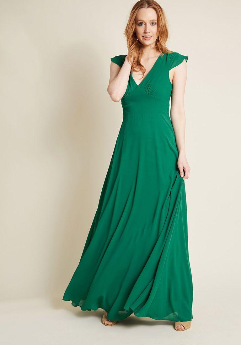Green bridesmaids dress  Opulent Engagement Maxi Dress  Products  Pinterest  Dresses