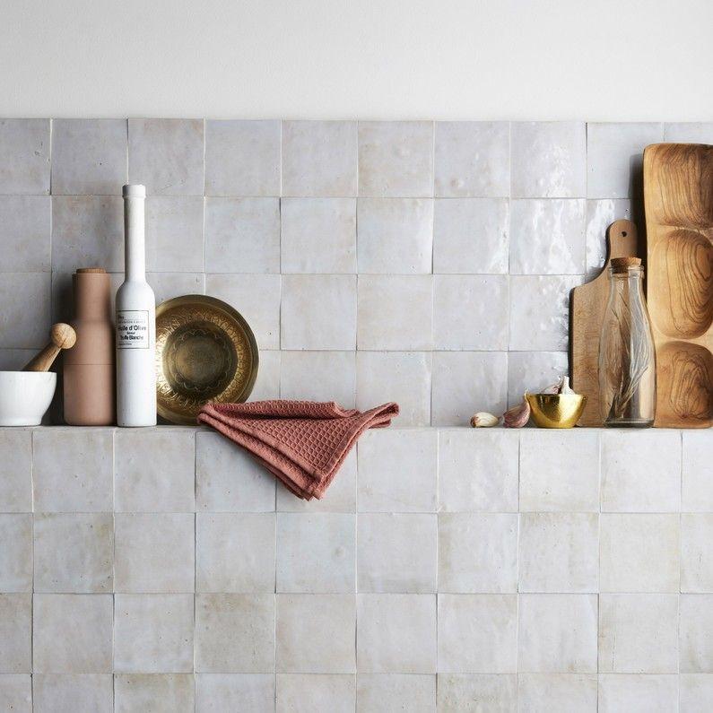Pierre Naturelle Mur Blanc Fes Zellige L 10 X L 10 Cm Avec Images