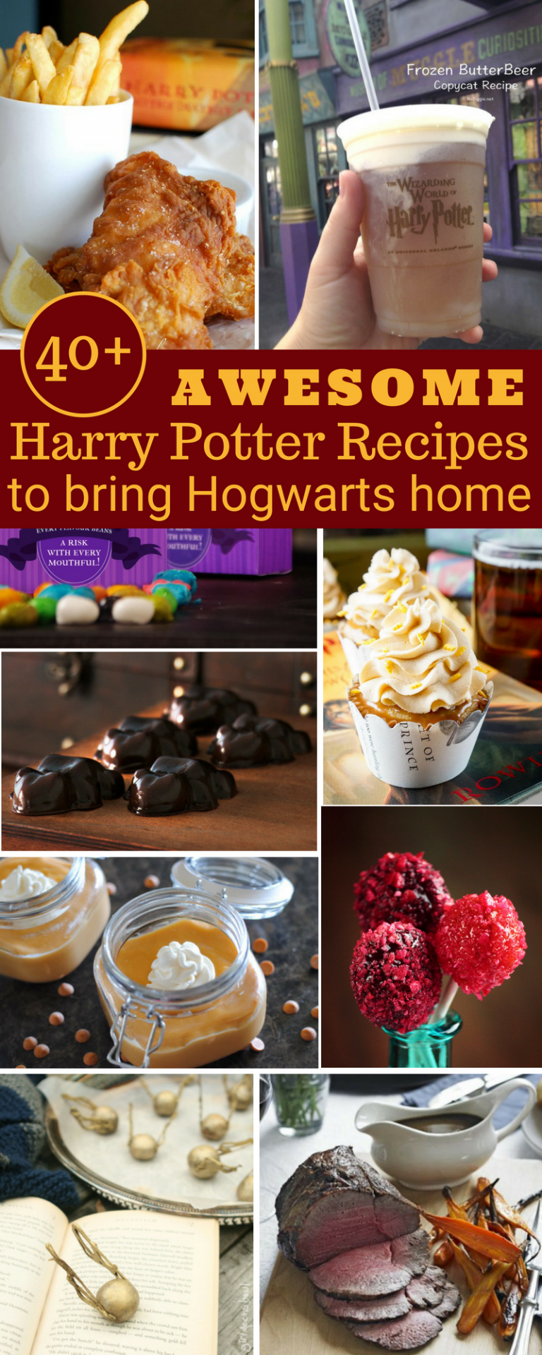 40 Awesome Harry Potter Recipes That Ll Bring Hogwarts Home The Thrifty Kiwi Harry Potter Food Harry Potter Parties Food Harry Potter Desserts