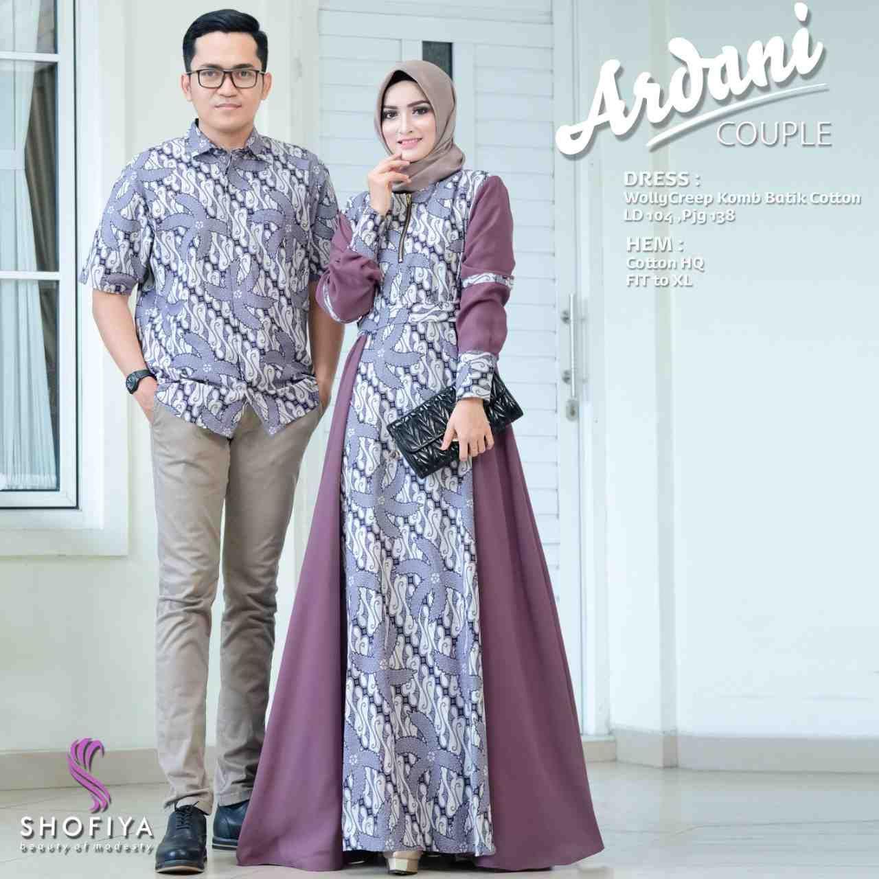Model Gamis Batik Couple Terbaru 12  Model pakaian muslim