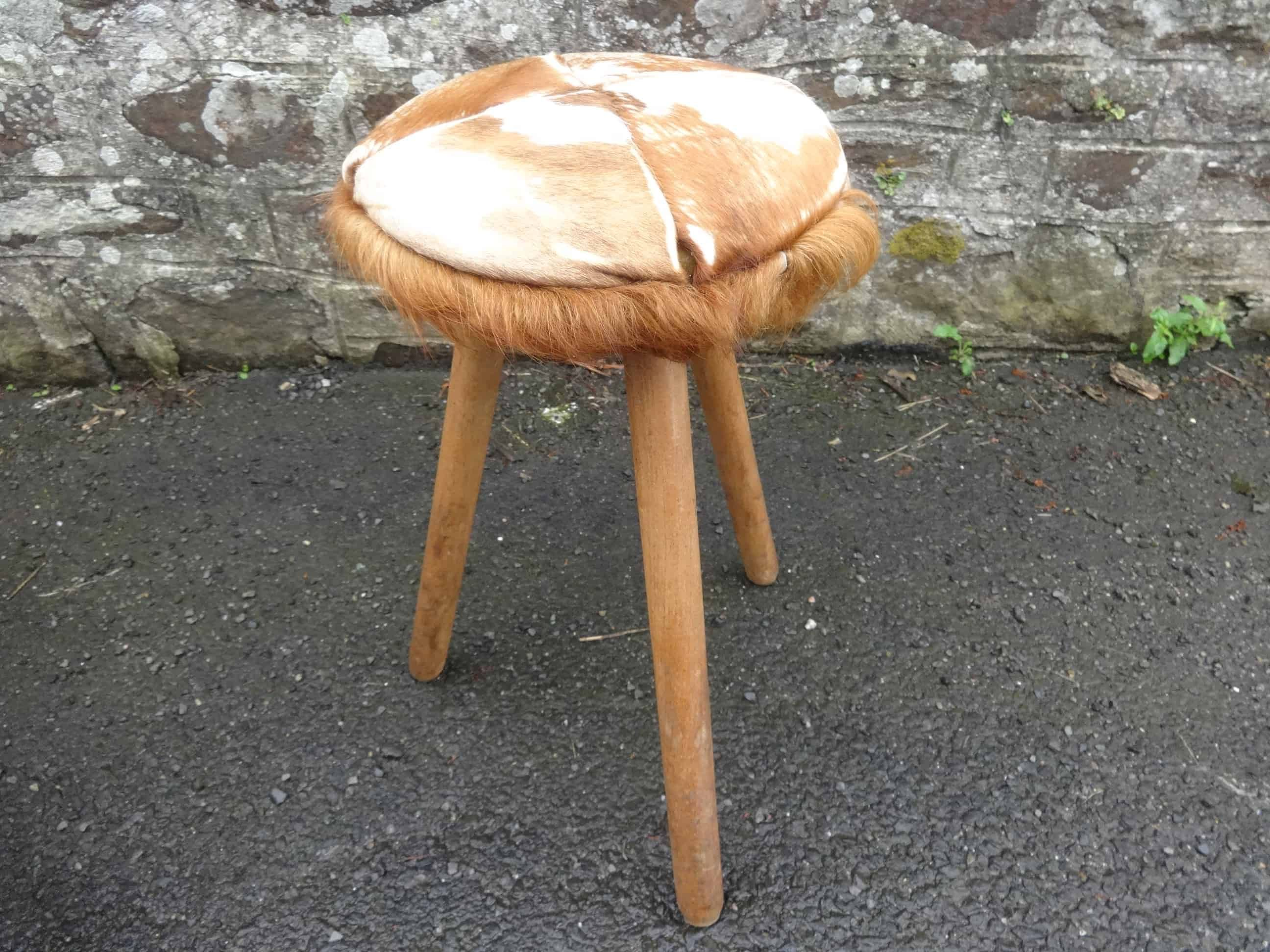 Magnificent Vintage French Wooden Cushioned Milking Stool Foot Rest Ocoug Best Dining Table And Chair Ideas Images Ocougorg