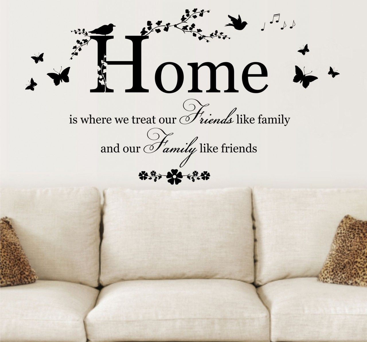 Home Is Where We Treat Quote, Vinyl Wall Art Sticker Decal Mural. Home, Wall  Decor.