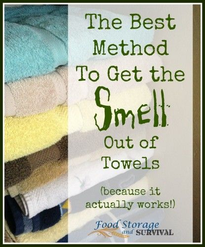 The Best Method To Get The Smell Out Of Towels Because It Actually Works Food Storage And Survival Smelly Towels Washing Towels Towel