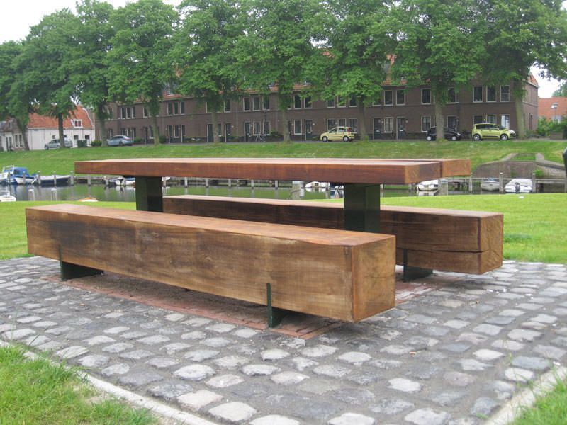 Picnic Table For Public Spaces PURE II Grijsen Park - Park picnic table dimensions