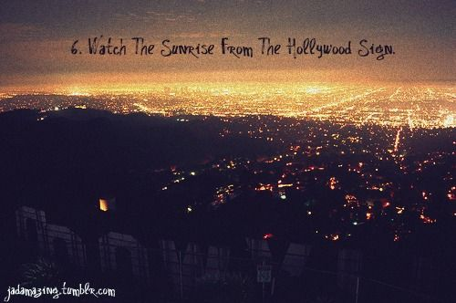 Watch The Sunrise From Hollywood Sign