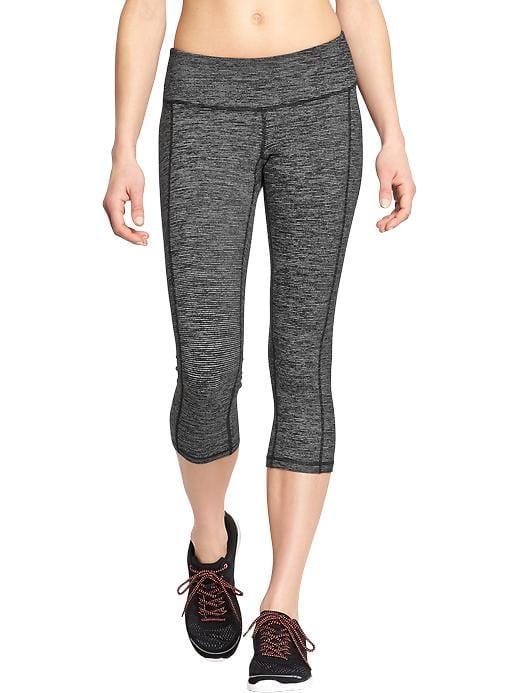 4e1ec52c838b7 Old Navy Women's Mid-Rise Stripe-Melange Crops Soft Black Stripe Regular  Size XXL